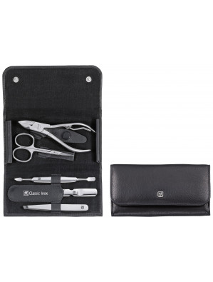 Zwilling Beauty - Manicure Classic Inox snap fastener case, black, 5 pcs., 97437-004