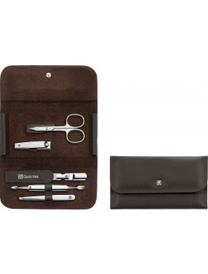 Zwilling Beauty - Manicure Classic Inox snap fastener case, brown, 5 pcs., 97688-007