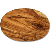 Cutting board olive wood oval, ca. 17 x 25 x 1.2 cm, art. no. 14182