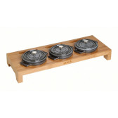 Staub - Stand for 3 round mini cocottes, bamboo, 40510-299 / 1190698