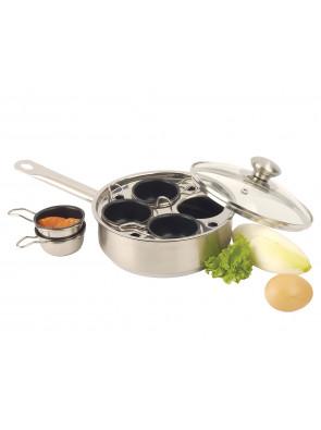 Demeyere Gourmet pan - Ø 18 cm / 7.1'', 4 inserts à Ø 6 cm / 2.4'', 84619 / 40850-299