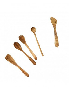 5-piece wooden kitchen tool set, olive wood, 14139