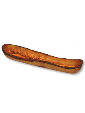 Baguette bowl olive wood, long shape, ca. 45 x 8 cm, art. no. 14207
