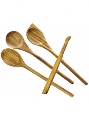 4-piece wooden spoon set, olive wood, 14410