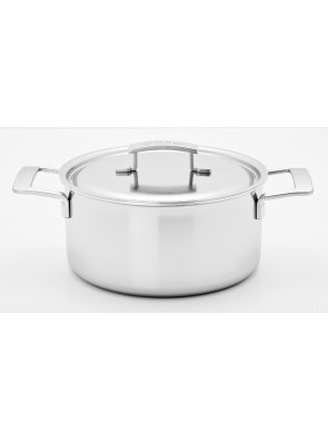Demeyere Industry - pot with lid, Ø 24 cm, 5.2 L, 48324 / 40850-669