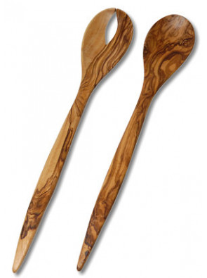 Salad servers olive wood, ca. 35 cm (13.8 ''), art. no. 14114