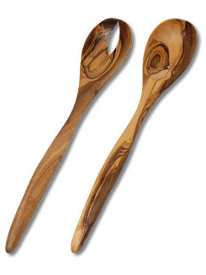 Salad servers olive wood, ca. 30 cm (11.8 ''), art. no. 14112