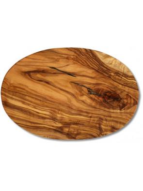 Cutting board olive wood oval, ca. 17 x 25 x 1.2 cm, art. no. 14182