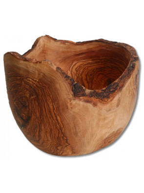 Fruit bowl with bark, olive wood, Ø ca. 24-25 cm, art. no. 14190