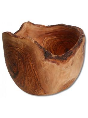 Fruit bowl with bark, olive wood, Ø ca. 24-25 cm, art. no. 14190