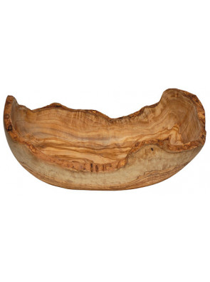 Fruit bowl olive wood, long natural shape, ca. 24 x 16 cm, art. no. 14213