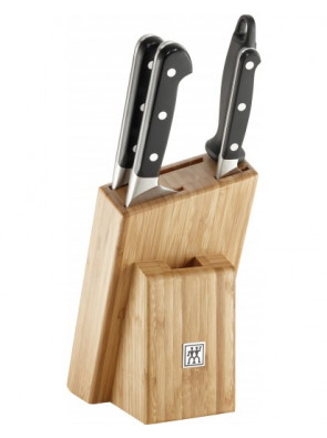 Zwilling Pro knife block, bamboo, 5-part, 38448-002