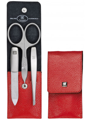 Zwilling Beauty - Manicure Twinox pocket case, red, 3 pcs., 97091-002