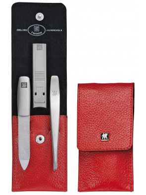Zwilling Beauty - Manicure Twinox pocket case, red, 3 pcs., 97119-002