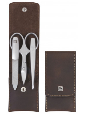 Zwilling Beauty - Manicure Twinox pocket case, brown, 3 pcs., 97405-007