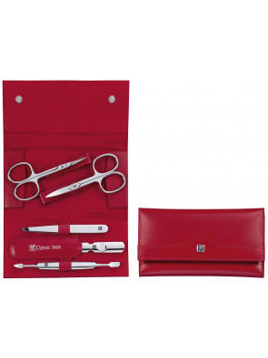 Zwilling Beauty - Manicure Classic Inox snap fastener case, red, 5 pcs., 97436-003