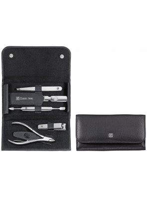 Zwilling Beauty - Manicure Classic Inox snap fastener case, black, 5 pcs., 97436-004