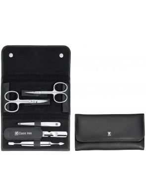 Zwilling Beauty - Manicure Classic Inox snap fastener case, black, 5 pcs., 97458-004
