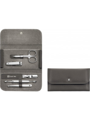 Zwilling Beauty - Manicure Classic Inox snap fastener case, anthracite, 5 pcs., 97688-005